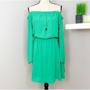 Altr'd State Green off the Shoulder Dress Size M